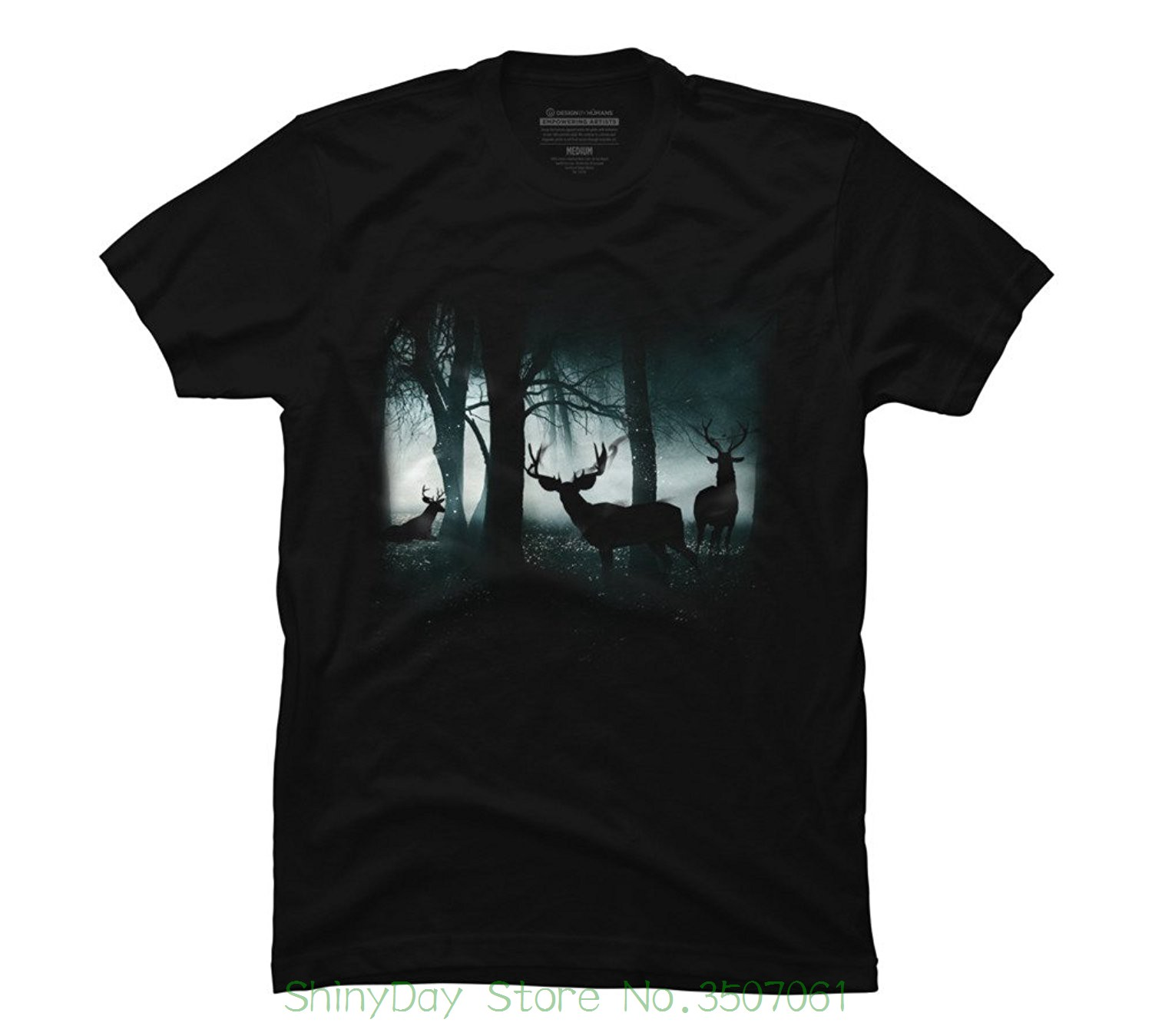 T-shirts 2018 Brand Clothes Slim Fit Printing Guardians Of The Forest Mens Graphic T Shirt -