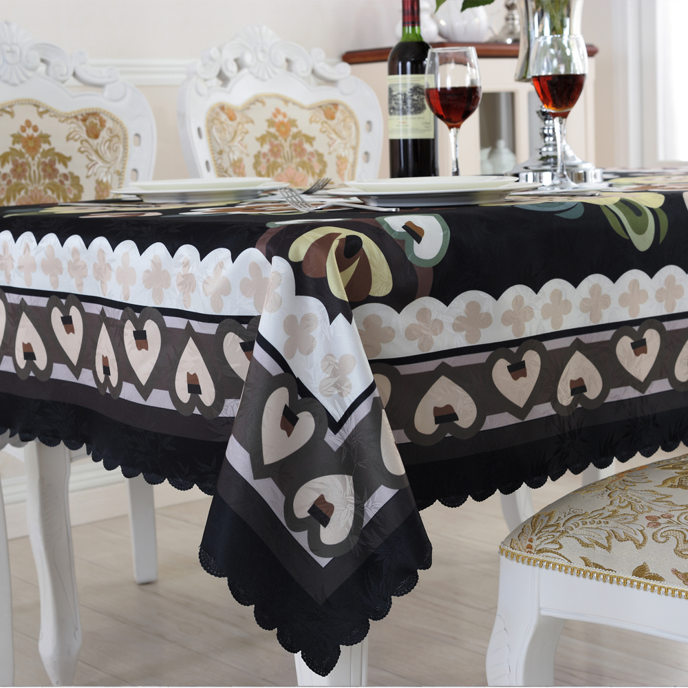 Aliexpress.com : Buy Family Expenses Table Cloth Black Rectangular  Tablecloths Creative Flower Design Eco Friendly Home Textile ZD 5 From  Reliable Textile ...
