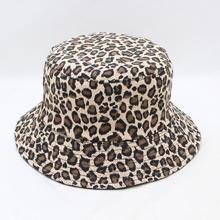 2018 New Fashion Summer Reversible Cappello Pescatore Leopard Fisherman Caps Bucket Hats For Womens Ladies