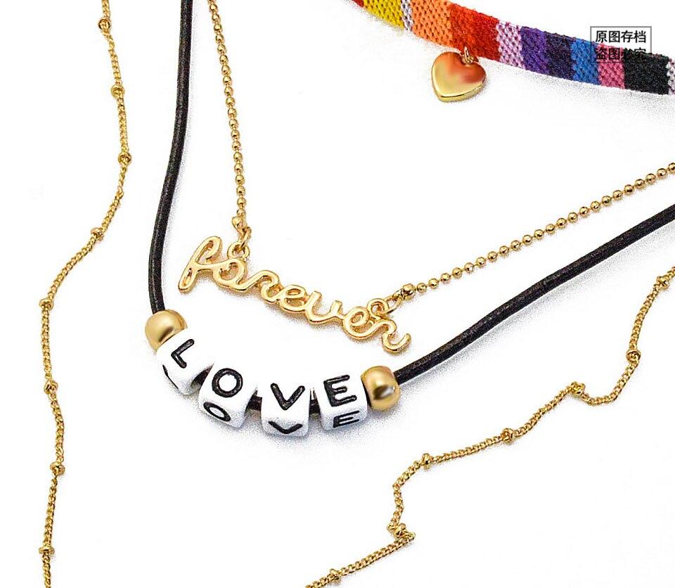 Leiiy Hot Fashion Bunte Handgemachte Mehrschichtige Kette Halsband ...