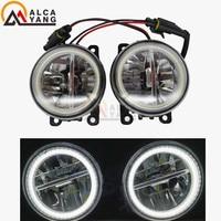 2x LED Fog Light Angel Eye Daytime Running Light DRL For FORD FOCUS 2 MK2 2004 2010 For FORD TRANSIT Platform Chassis 2006 2015