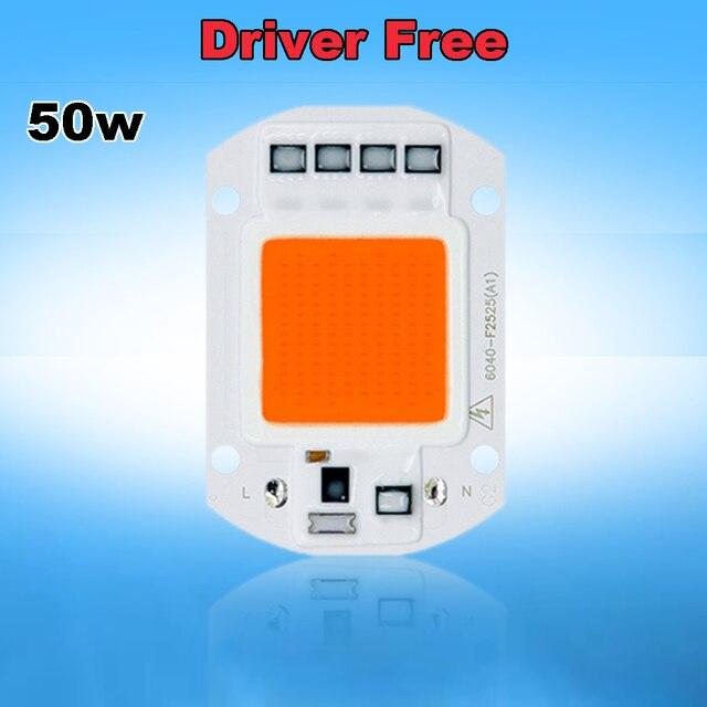 10pcs/lot Lighting Transformer Free 50w AC 110V ~ 220V 400nm ~ 840nm Full Spectrum LED Grow Light Lamps for Indoor Plant Growth