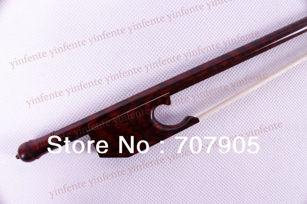 One New 4/4 Violin Bow SnakeWood Baroque Style Violin Parts handmade new solid maple wood brown acoustic violin violino 4 4 electric violin case bow included