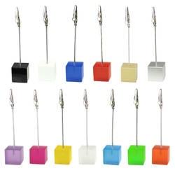 Цвет кубическая подставка аллигатора провода фото клип, памятка Держатель для карт, Свадебная вечеринка место пользу, индивидуальный