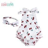 Bebe/одежда Комбинезоны для малышек для новорожденных Хлопок рюшами Ползунки Обувь для девочек летняя одежда реквизит для фотосессии с оголо...