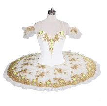 White Sugar Plum Fairy Professional Stage Costume Tutu Girls Pancake Dress Performance and Competition For Women Dance Wear