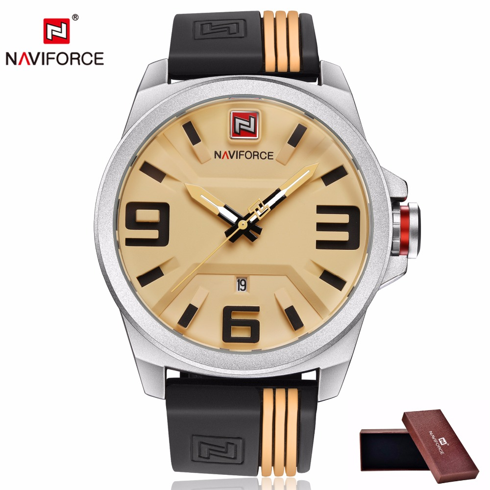 NAVIFORCE Watches Men Top Brand Luxury Quartz Hour Date Clock Male Sport Watch Male Rubber Military Wristwatch relogio masculino luxury brand burei men multifunctional business watches stainless steel date clock hour male quartz wristwatch relogio masculino