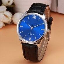 Relogio Masculino Luxury Mens watch Vintage Design PU Leather Band Analog Alloy Quartz Wrist Watch relojes mujer Men clock Hours