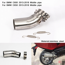 51mm Header Motorcycle Middle Pipe Silp on for BMW C600/650 2013 2014 2015 2016 2017 2018