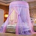 Красочные москитная сетка принцесса насекомых однодверная подвесная купольная балдахины для кровати сеточная круглая москитная сетка обы...