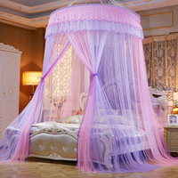 Colorful Mosquito Net Princess Insect Net Single door Hung Dome Bed Canopies Netting Round Mosquito Net Commonly Used