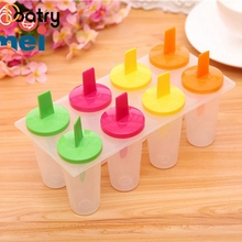 8 Holes DIY Lolly Cream Maker Mould Tray Pan Kitchen Tool