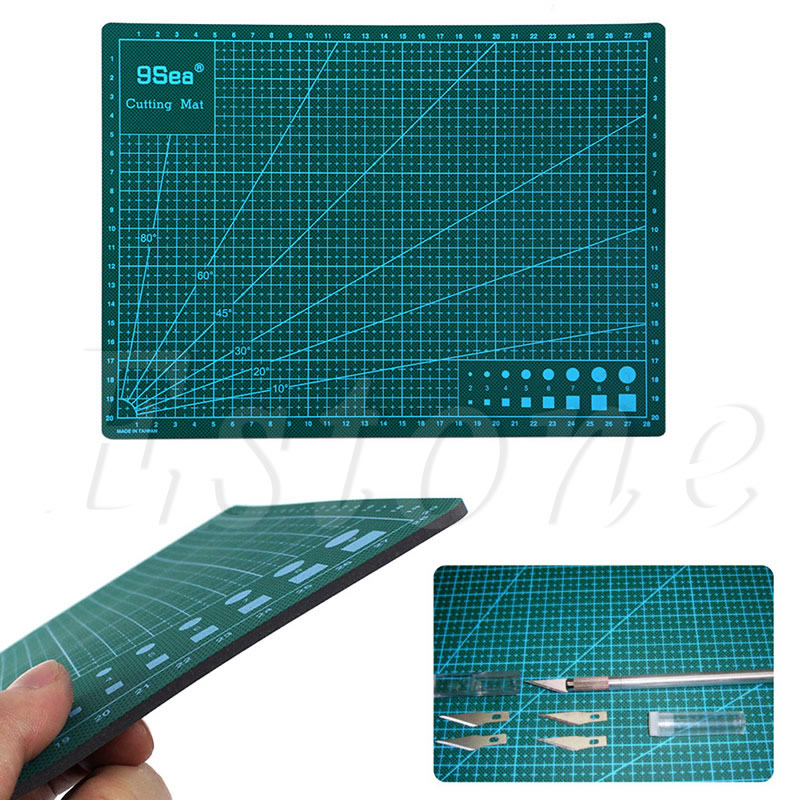 A4 PVC Self Healing Cutting Mat Multifunction Craft Quilting Grid Lines Printed Board 30x22CM