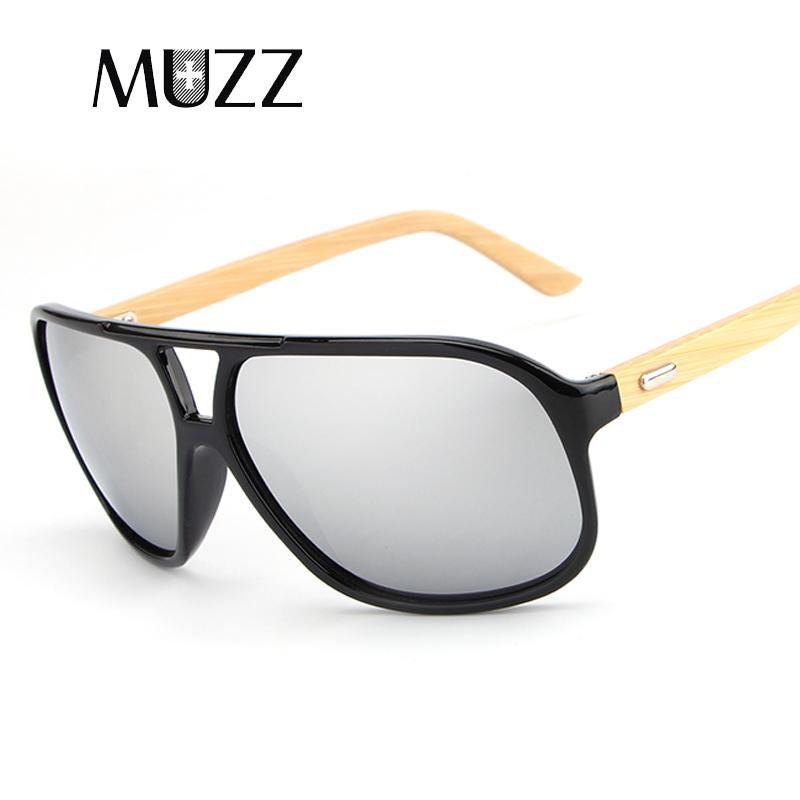 MUZZ Brand NEW Square Shades Wood Sunglasses Men Women Sunglasses Brand Designer Bamboo Original Hnad Made Glasses UV400 Oculos