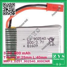 A Embalagem de segurança, Conector de 2 pinos 3.7 V bateria de Polímero de lítio 902540 800 mah para UAS Zona mini drone Drone UAV fpv Tamanho: 9x25x40mm