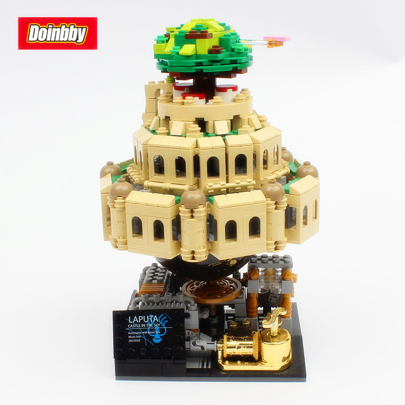 05001 Genuine Creative MOC Series 1179Pcs City of Sky With Music box Building Block Toys Educational Kids Gifts new 10002 street creative series naruto of green grocery send board one piece ship box for toys