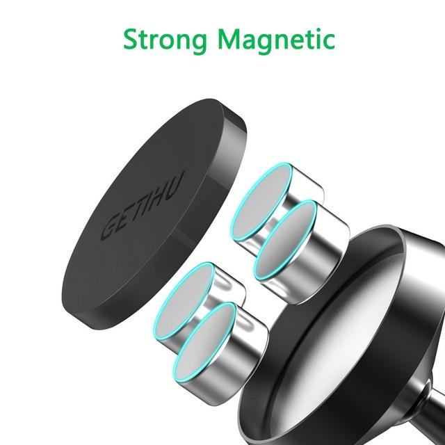 Magnetic Phone Holder In Car 360 Mount