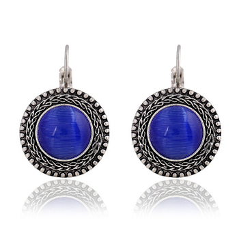 Round Vintage Drop Earrings Earrings Jewelry Women Jewelry Metal Color: H13380