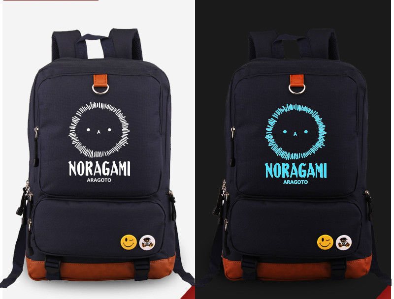 ФОТО Blue Noragami aragoto Anime Shoulder Luminous backpack Laptop Bag New/wtag