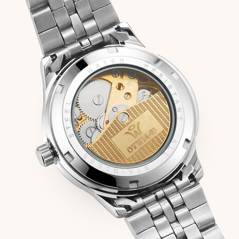Silver Steel Band Self wind Mechanical Butterfly Hollow Women Skeleton WatchB Ladies Automatic Wrist watch Gifts for Women 39 s in Women 39 s Watches from Watches