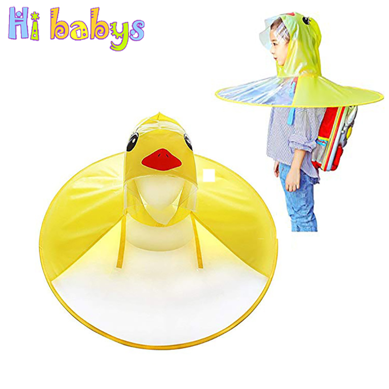 где купить UFO Children Duck Raincoat Umbrella Rain Cover Poncho Waterproof Raincoat For Kid Umbrella Cover Fun Outdoor Fishing Toys дешево