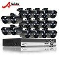 ANRAN 16-КАНАЛЬНЫЙ HDMI DVR Комплект Видеонаблюдения Главная Видео Системы ВИДЕОНАБЛЮДЕНИЯ AHD 720 P 1800TVL 1080N ИК Открытый CCTV Камеры Безопасности