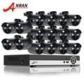 Anran hdmi 16ch dvr kit cctv home video vigilancia sistema 1080n 1800tvl ahd 720 p ir al aire libre cámara de seguridad cctv