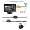 2.4G Wireless HD Que Invierte la Cámara de Visión Trasera Con 4.3 pulgadas de Pantalla TFT LCD Pantalla Del Panel HD Opinión Posterior Del Coche Del Monitor de Color
