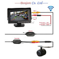 2.4G Wireless HD Reversing Back up Car Rear View Camera With 4.3 Inch Screen TFT LCD Screen HD Panel Color Car Rear View Monitor