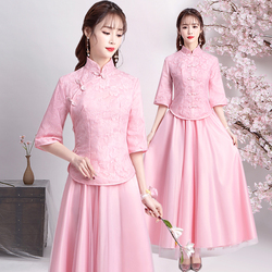 9852c2fa8bc Two piece A-line Lace Bridesmaid Dresses Long Formal Elegant Simple Women  Formal Party Gowns