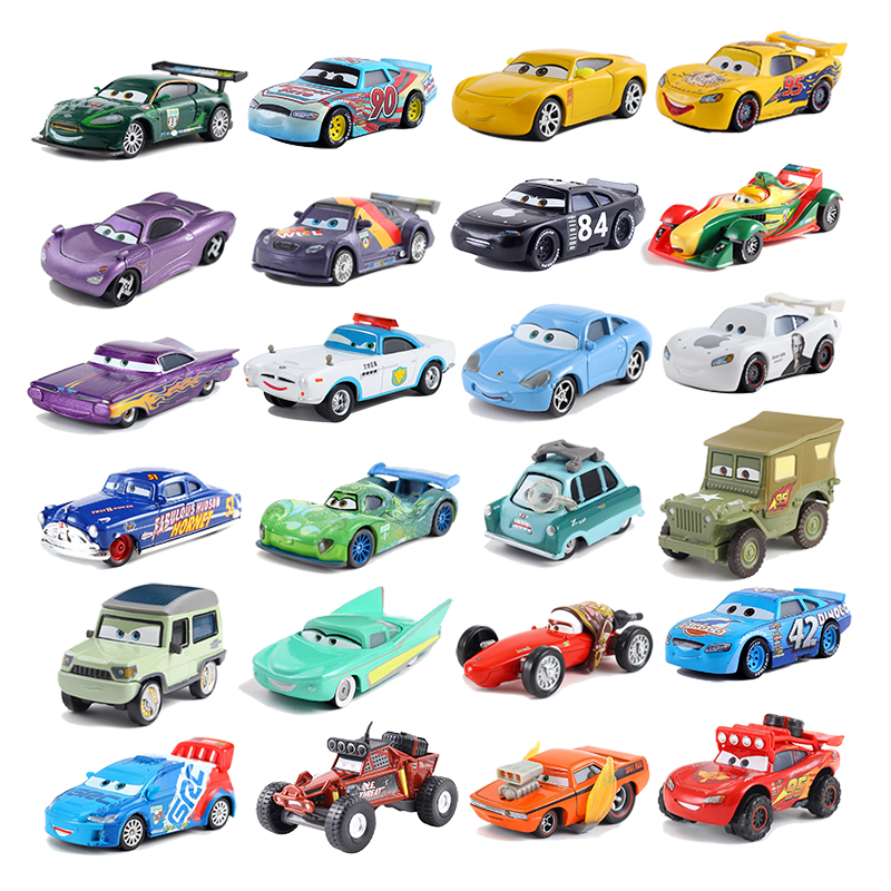 Disney Pixar Cars 3 Lightning McQueen Mater Jackson Storm Ramirez Diecast Metal Alloy Model Toy Car Gift For Christmas Gifts