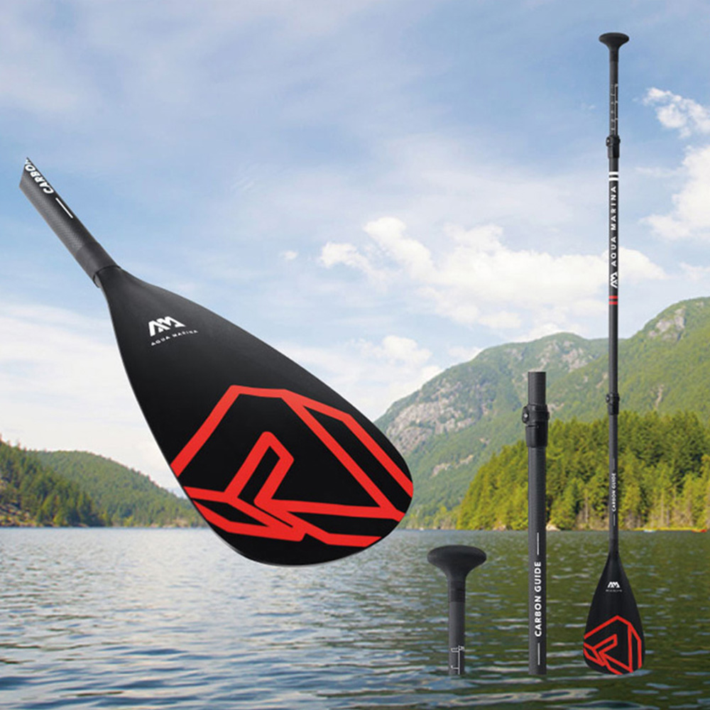 Mise à niveau carbone Guide Semi carbone SUP Paddle rouge noir Stand Up Paddle Board professionnel course Paddle Kayak pagaie B0302770
