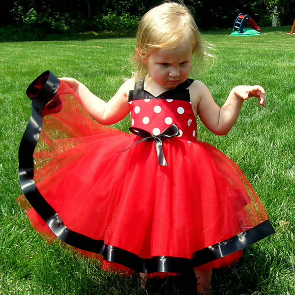 Summer Baby Girl Toddler Polka Dots Wedding Party Pageant Bubble Dress Tulle Tutu Dress New 2016 new brand girl dress summer black polka dots children s girls dress wedding party baby clothes for teen girl 4 to 10 years