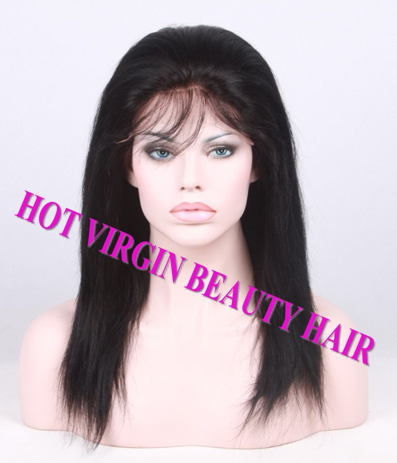 8A Brazilian Virgin Human Hair Lace Front Wig Glueless Full Lace Wig Straight With Baby Hair U Part Wigs DHL TNT Free Shipping_conew1