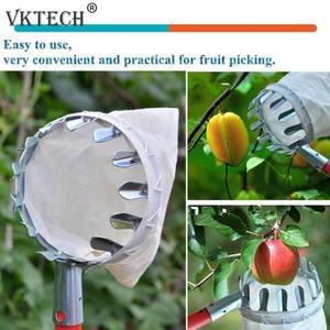 Image 5 - מתכת פירות פיקר מטע גינון אפל אפרסק גבוהה עץ לקטוף כלים פירות לוכד אספן גינון כלים