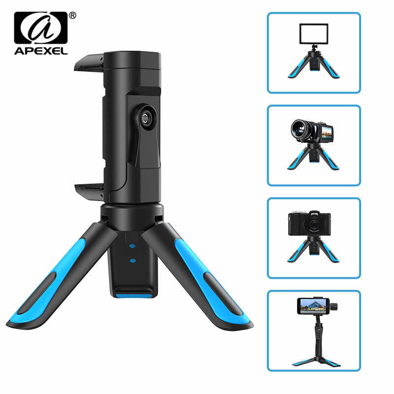 APEXEL Universal Camera Tripod Portable Stretch Handheld Tripod With Mobile Phone Clip Smartphone For Gopro xiaomi iPhone