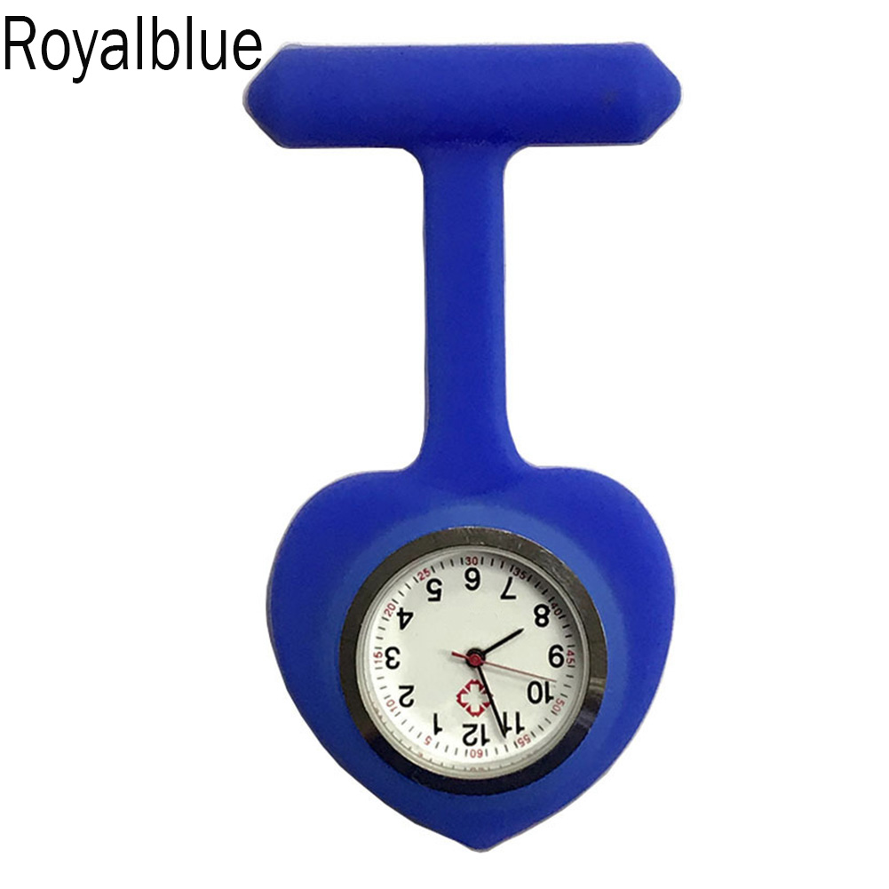Silicone Nurse Love Heart Shape Watch Pocket Brooch Clip Medical Nurse Pocket Nursing Watch LL@17