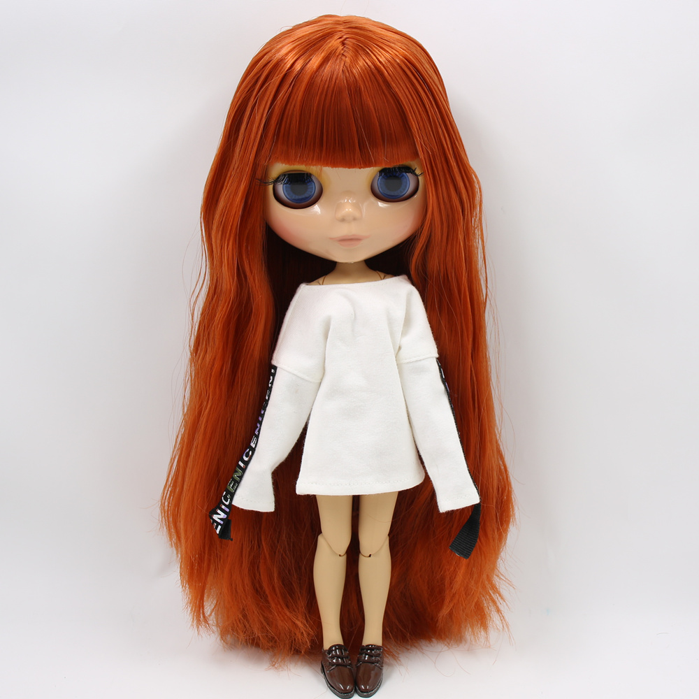 ICY Nude Factory Blyth Doll Serires No BL232 Ginger hair JOINT body burning skin with big