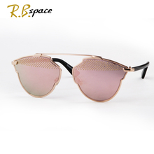 2017 new women's features luxury cat's eye sunglasses ladies fashion designer brand sunglasses coated alloy frame sunglasses man