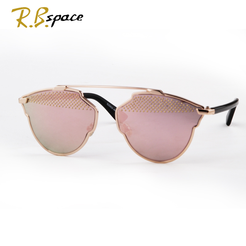 2017 new womens features luxury cats eye sunglasses ladies fashion designer brand sunglasses coated alloy frame sunglasses man
