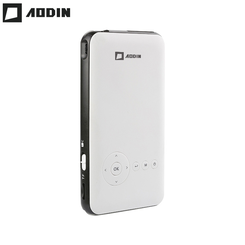 AODIN 8G 3D HD Mini projector DLP support 1080P video pico pocket projector for home theater