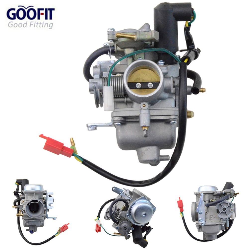 GOOFIT CF250 CH250 CN250 Carburetor for GY6 250cc ATV Quad Moped Go Kart N090-235 goofit cylinder kit for honda elite ch250 helix cn250 baja hammerhead roketa zongshen chinese water cooled 250cc atv dirt bike
