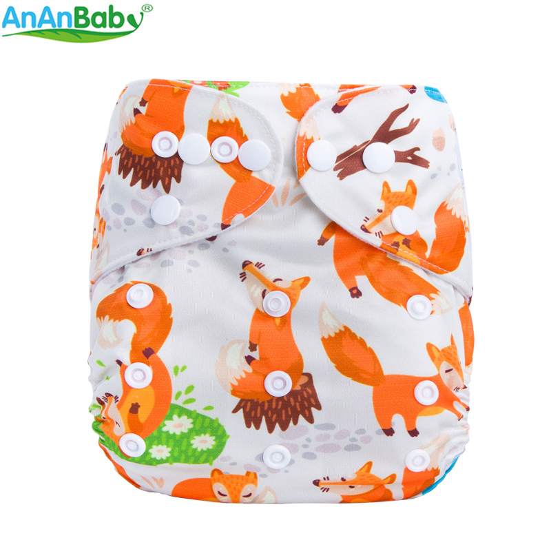 Ananbaby 2018 New Design Colorful Prints Cloth Diaper Pocket Cover  Reusable Nappies  Machine Washable F-Series