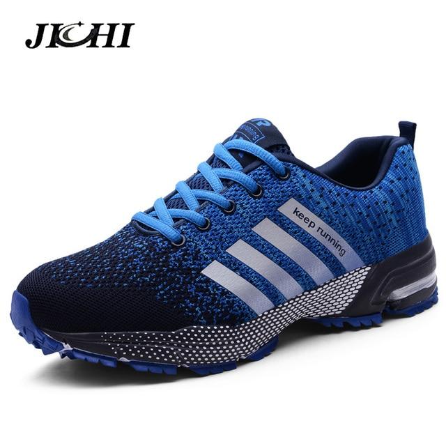 2019 ספורט ריצה נעלי גברים זוג נעליים יומיומיות גברים דירות חיצוני סניקרס רשת לנשימה הליכה הנעלה ספורט מאמני