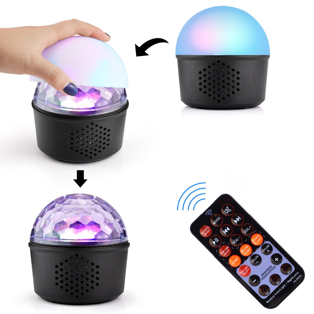 цена на Bluetooth MP3 + 9colors night light +9colors party light for Christmas decoration, disco, stage, all entertaiment+Remote