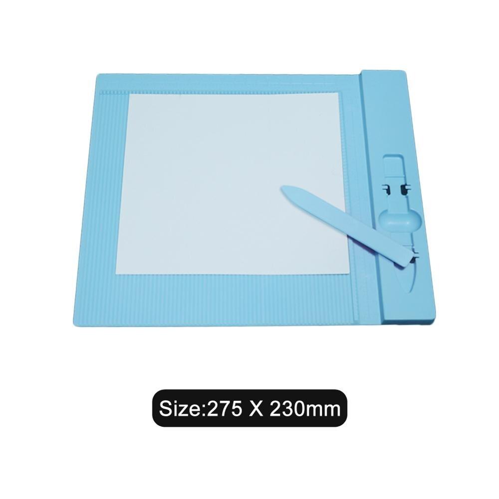 275*230 MM bleu en plastique papier carte découpe conseil tapis de coupe tapis adhésif Pad avec grille de mesure 2019 nouveaux outils de bricolage artisanat