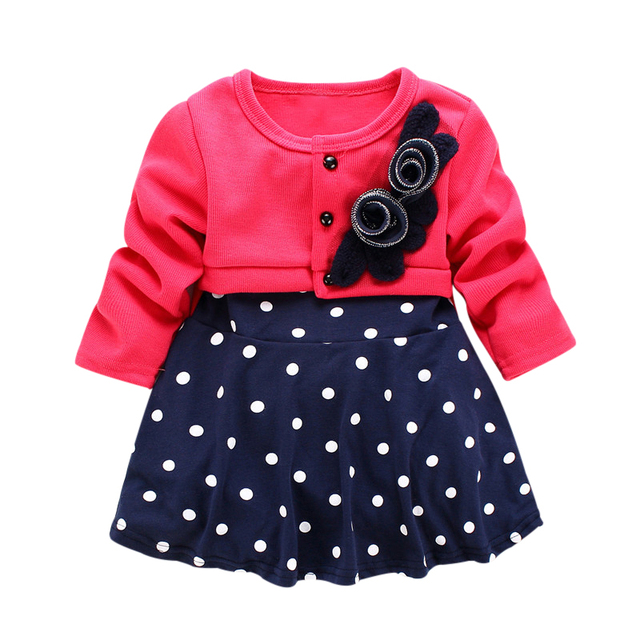 e3741937a 2017 Baby Dresses Fashion Style Autumn Winter Girls Dress Spliced ...