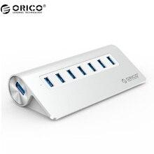 ORICO M3H7-SV 7 Порты и разъёмы USB 3.0 хаб Хорошее Качество Высокое-Скорость Алюминий с Vl812 Чипсет для Mac Book-серебро