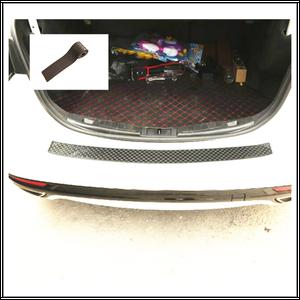 Image 5 - Rubber Sticker Rear Guard Bumper Protector Trim Cover Trunk Scratch Pad Car Styling