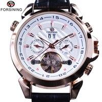 Forsining 2017 swallow gird tecer dial rosa caso ouro relógio de couro genuíno dos homens relógios marca superior luxo relógios automáticos|watch top|watch top brand|watch brand -